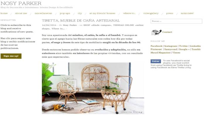 Nosy Parker - Blog de decoración e interiorismo - Junio 2014